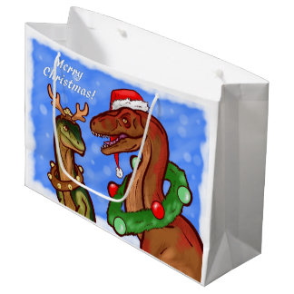Grand Sac Cadeau Griffes de Père Noël
