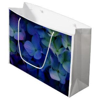 Grand Sac Cadeau Hortensias pourpres violets