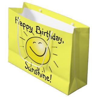 Grand Sac Cadeau Joyeux anniversaire, soleil !