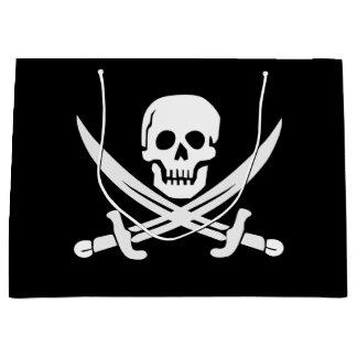 Grand Sac Cadeau Le pirate/crânes/épées faits sur commande de