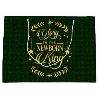 Grand Sac Cadeau Le Roi nouveau-né Tartan de gloire