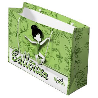 Grand Sac Cadeau Le vert | de Peridot de la poupée | de ballerine