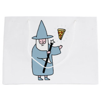 Grand Sac Cadeau Magicien de pizza - aléatoire