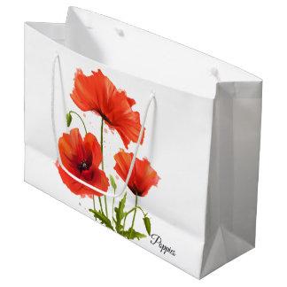 Grand Sac Cadeau Mes pavots de fleurs