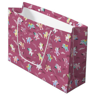 Grand Sac Cadeau Moustache Unicornio