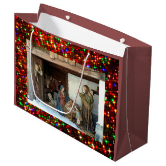 Grand Sac Cadeau Nativité de bébé Jésus, de Mary et de Joseph