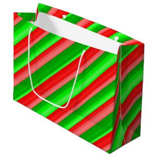 Grand Sac Cadeau Noël glacé