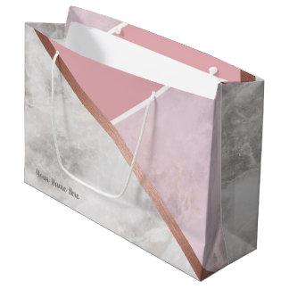 Grand Sac Cadeau Or rose personnalisé grand Giftbag