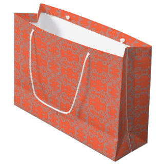 Grand Sac Cadeau orange