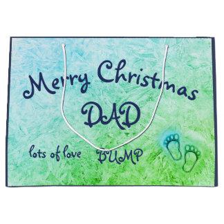 Grand Sac Cadeau Papa de Joyeux Noël, de conception de bosse