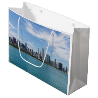 Grand Sac Cadeau Paysage urbain de jour de Chicago