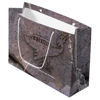 Grand Sac Cadeau Pétroglyphe d'objet de vol non identifié