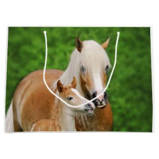 Grand Sac Cadeau Photo mignonne de poney de maman de baiser de