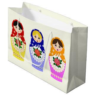 Grand Sac Cadeau Poupées russes d'emboîtement de matryoshka
