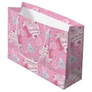 Grand Sac Cadeau Princesse d'anniversaire