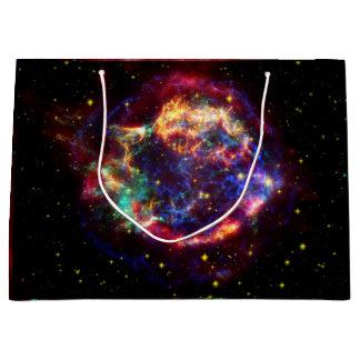 Grand Sac Cadeau Reste de supernova de galaxie de Cassiopeia