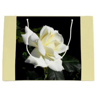 Grand Sac Cadeau Rose blanc