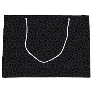 Grand Sac Cadeau Taches de panthère noire
