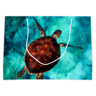 Grand Sac Cadeau Tortue Honu d'Hawaï
