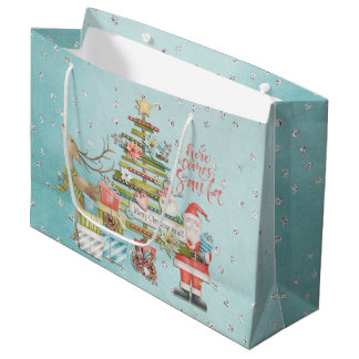 Grand Sac Cadeau Vacances de Noël - vient ici Père Noël