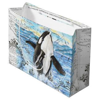 Grand Sac Cadeau Violation de la carte antique d'orque