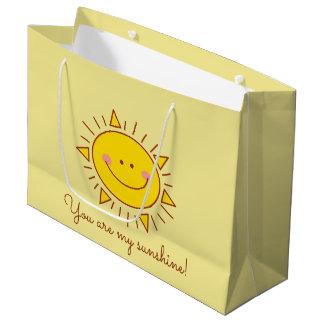 Grand Sac Cadeau Vous êtes mon jour ensoleillé souriant mignon