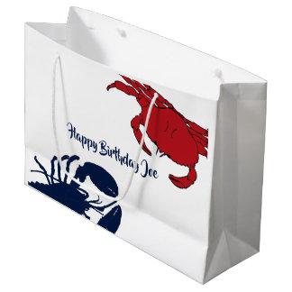 Grand sac de cadeau de homard fait sur commande du