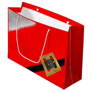 Grand sac de cadeau de Noël de costume rouge de