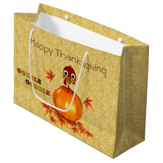 Grand sac de cadeau de thanksgiving de citrouille