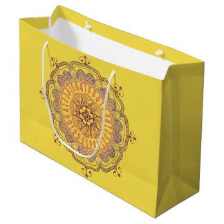 Grand sac de faveur de mandala élégant et coloré