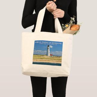 Grand sac fourre-tout à Nantucket mA de phare de