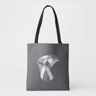 grand sac fourre-tout géométrique à tulipe