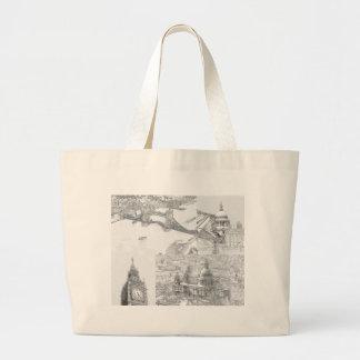 Grand sac fourre-tout - icônes de Londres