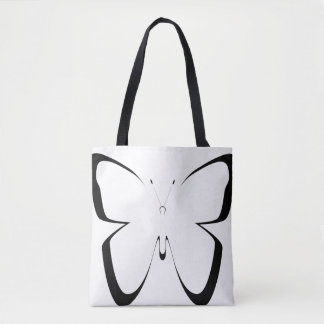 grand sac noir-blanc de papillon