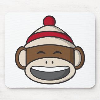 Grand singe Emoji de chaussette de sourire Tapis De Souris