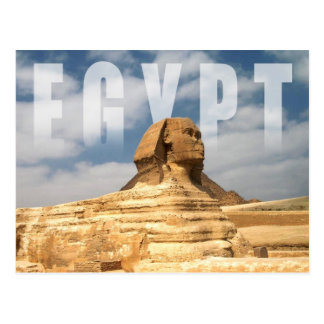 Grand sphinx de Gizeh en Egypte Carte Postale