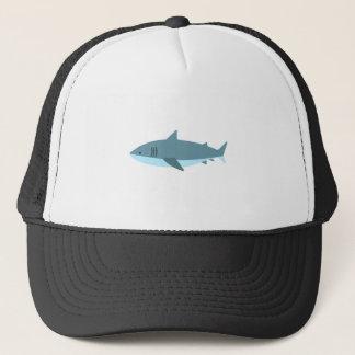Grand style de primitif de requin blanc casquette