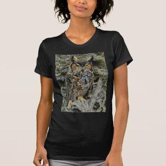 Grand sweat - shirt à capuche du hibou à cornes t-shirt