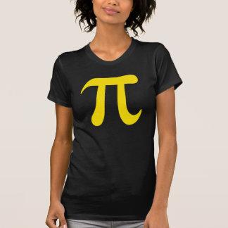 Grand T-shirt de dames de symbole du jaune pi