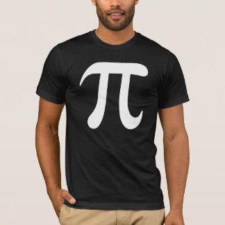 Grand T-shirt de symbole du blanc pi