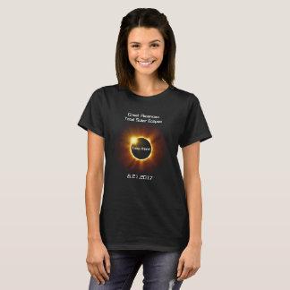 Grand T-shirt total américain d'éclipse solaire