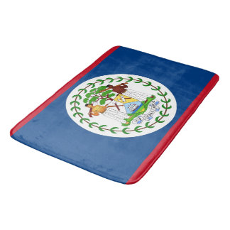 Grand tapis de bain avec le drapeau de Belize