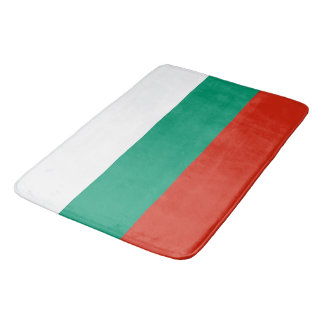 Grand tapis de bain avec le drapeau de la Bulgarie