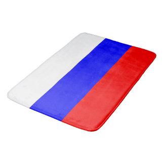 Grand tapis de bain avec le drapeau de la Russie