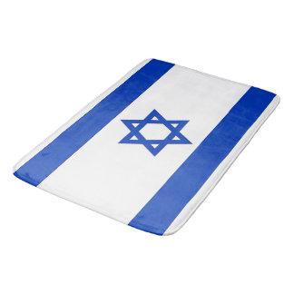 Grand tapis de bain avec le drapeau de l'Israël
