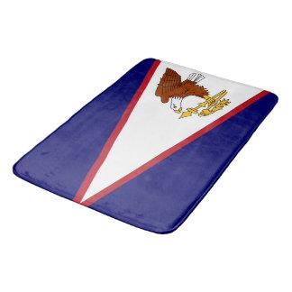 Grand tapis de bain avec le drapeau des Samoa