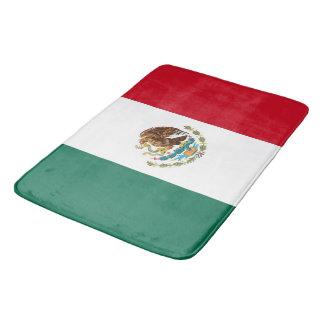 Grand tapis de bain avec le drapeau du Mexique