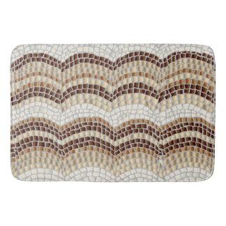 Grand tapis de bain de mosaïque beige