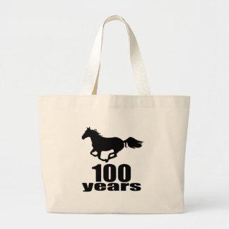 Grand Tote Bag 100 ans de conceptions d'anniversaire
