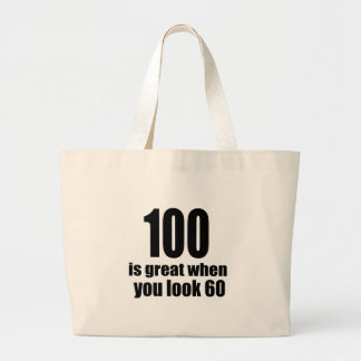 Grand Tote Bag 100 est grand quand vous regardez l'anniversaire